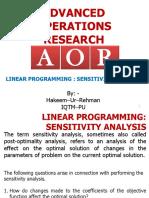 3. Linear Programming-Senstivity Analysis Hakeem Ur Rahman