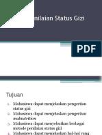 1. Metode Penilaian Status Gizi