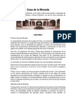 Casa de La Moneda TALLER