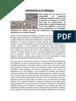 Contaminación Al Rio Motagua