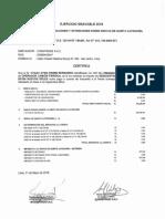 Certificados de Quinta Categoria