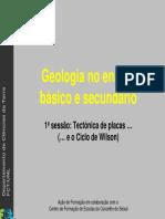 Tectonica de Placas e o Ciclo de Wilson - Slides