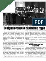 30-04-19 Designan consejo ciudadano regio