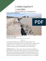 La Región Junín Registra 8 Conflictos Sociales