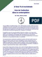 Ibn Arabi - Le Livre de L'Extinction Dans La Contemplation - Extrait - Soufisme