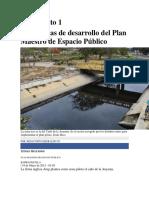 Las 5 Zonas de Desarrollo Del Plan Maestro de Espacio Público