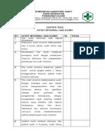 Daftar Tilik Audit Internal Dan Klinis