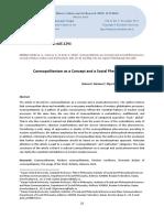 Cosmopolitanism as a Concept and Social Phenmenon