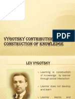 Vygotsky Contribution to Construction of Knowledge