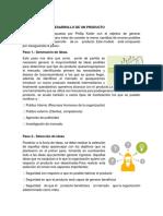 8 Pasos Para El Desarrollo de Un Producto