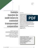 evolutia functiei de audit intern