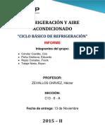Ciclo Basico de Refrigeracion Informe 01
