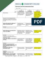 2019 lesson plan implementation rubric-ashley