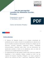 Encuesta de Percepción SAE, realizada por el Centro de Estudios del Mineduc