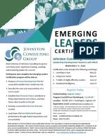 Emerging Leaders Certification Flyer