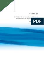 Boletín 29. Las Fallas Más Comunes de Su Sistema de Refrigeración y Su Solución en Campo. (Segunda Parte)