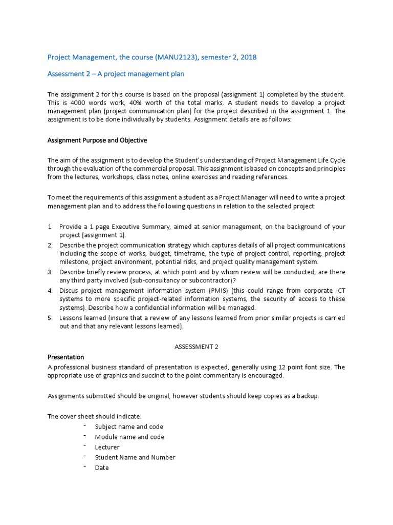 Assignment 2   Project Management   Educational Technology