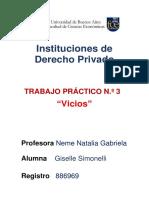 Instituciones de Derecho Privado Tp 3