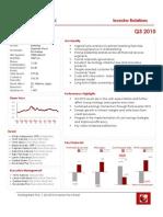 Sterling Bank PLC Investor Q3 2010 Factsheet