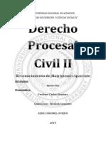 PROCESAL CIVIL II RECONOCIMINETO DE MATRIMONIO APARENTE MATIAS.docx