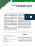 Captaciones Fisiologicas y Variantes Normales en PET CT FDG