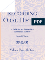 1. Valerie Raleigh Yow Recording Oral History. A Guide for the Humanities and Social Sciences (2005).pdf