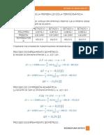 Aplicación de La Primera Ley de La Termodinámica
