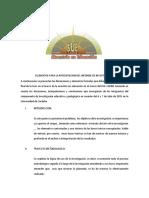 Elementos Para La Presentacion Del Informe de Investigacion