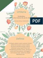 Dermatologi - Urtikaria
