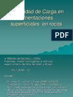 06 Capacidad de Carga en Cimentaciones Superficiales en Rocas
