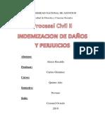 Procesal Civil II Daño y Perjuicio
