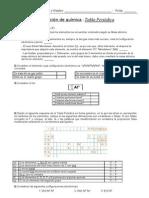 Evaluación Tabla periódica + Soluciones