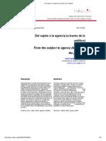 Del sujeto a la agencia (a través de lo político).pdf