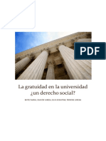 La gratuidad en la Universidad