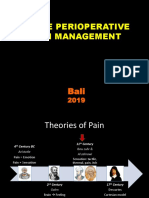 Perioperative Pain Management- Bali 2019