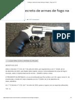 Conheça o Decreto de Armas de Fogo Na Íntegra – Terça Livre TV