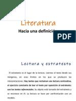 4. Hacia Una Definición de Literatura