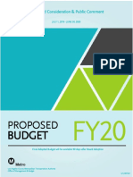 Metro Proposed Budget FY 2020