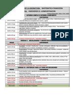 Cronograma Matematicas Financieras