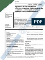 NBR 12041 - Argamassa de alta resistencia mecanica para pisos - Determinacao da resistencia a compressao.pdf