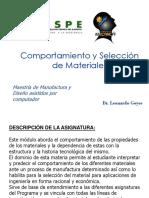 Design of materials
