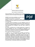 Nota Técnica 05.2019 Sobre Uso de Testes Psicológicos Em Atendimento Online Convertido