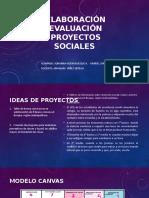 Elaboración Evaluación Proyectos Sociales