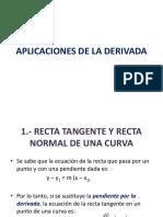 Apliccaciones de La Derivadda