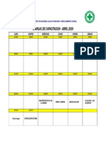 8.11 Cronograma de Charlas Abril 2019