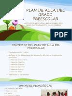 Plan de Aula Del Grado Preescolar