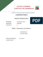 termodinamica instrumentos