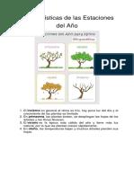 Características de Las Estaciones Del Año PDF