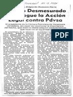 Edgard Romero Nava - Obtuvo desmesurado despliegue la cción legal contra PDVSA - El Universal 21.09.1984