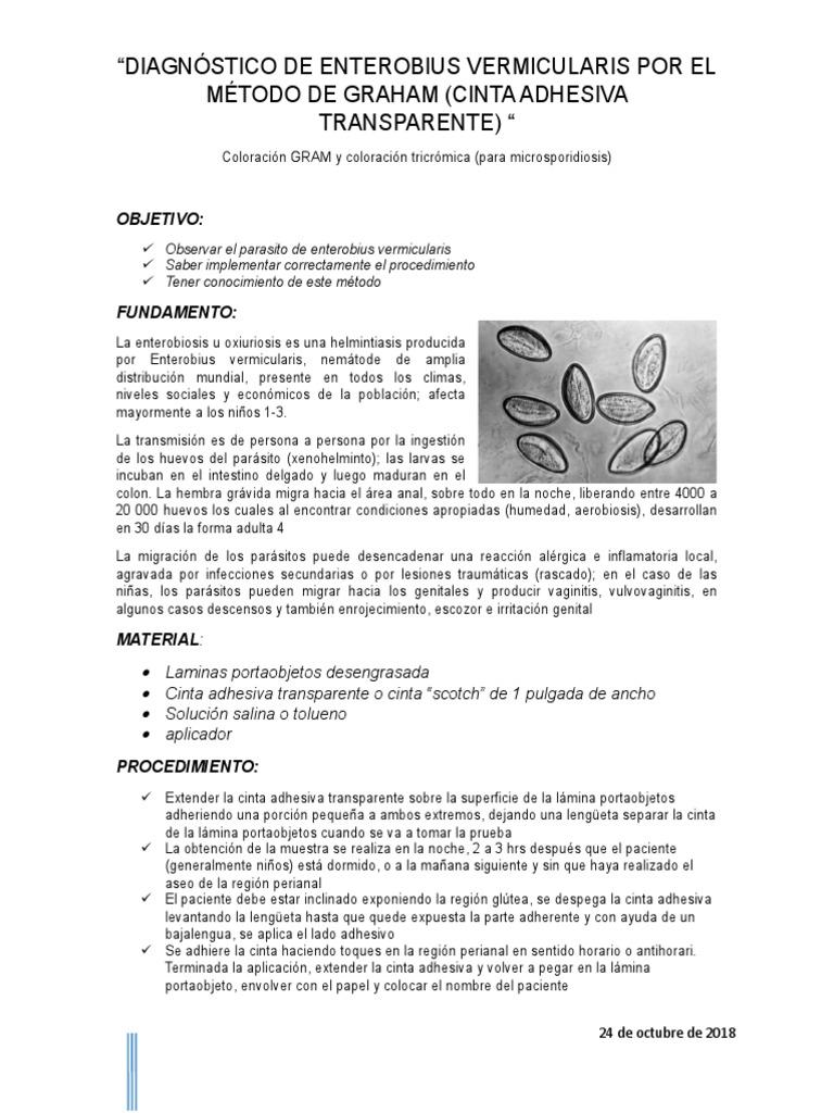 enterobius vermicularis diagnostico)